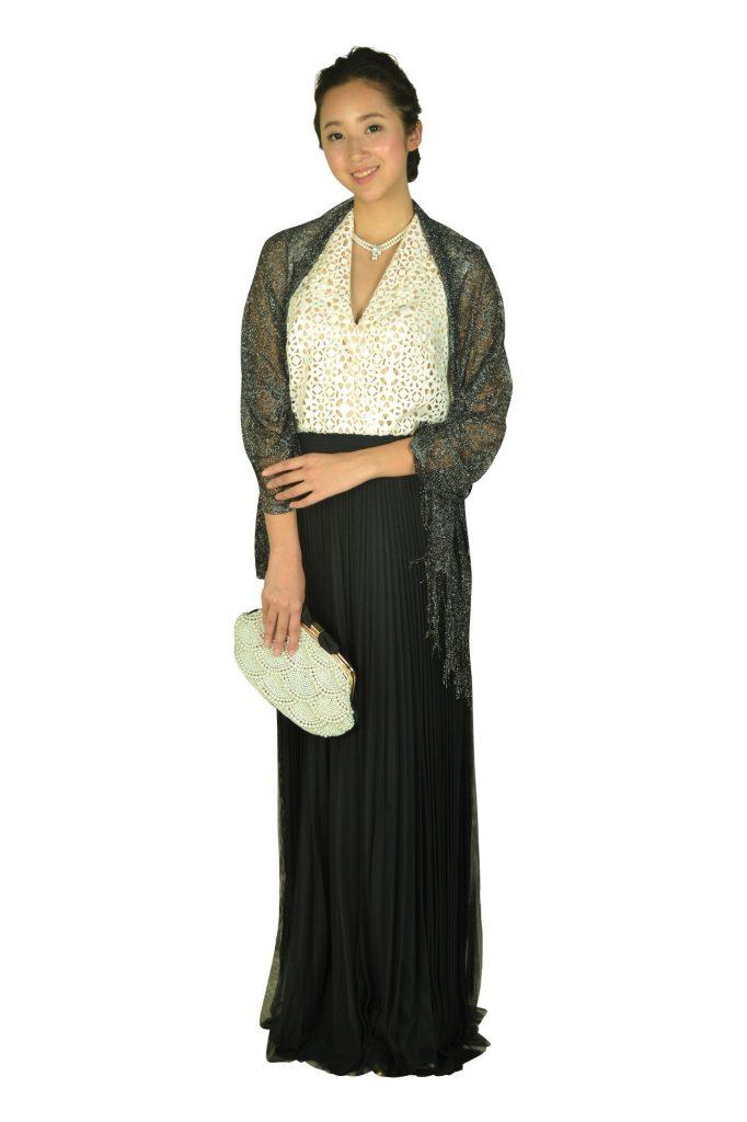 タダシ・ショージ(Tadashi Shoji) エレガントチュールロングドレス
