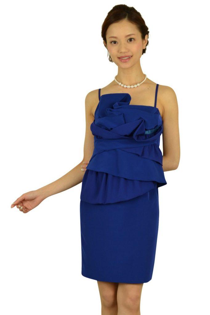 ダイアグラム グレースコンチネンタル (DIAGRAM) 華やかブルーローズドレス