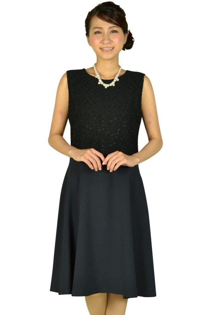 ヴァンドゥーオクトーブル (22 OCTOBRE) ブラックレース×ネイビードレス