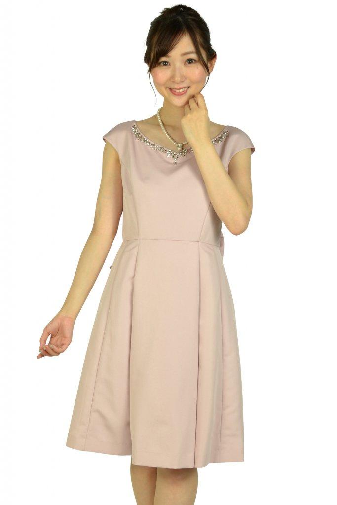 アプワイザー・リッシェ (Apuweiser-riche) 華やかビジュピンクドレス