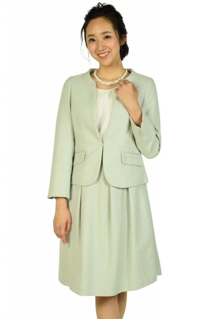 クチュールブローチ (Couture Brooch) ノーカラーミルキーブルースーツセット