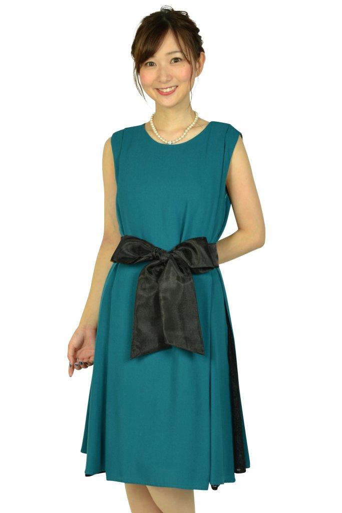 VIWOMINA 【授乳OK】ゆったりサイドレースグリーンドレス