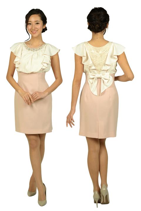 aa84813eece15 アプワイザー・リッシェ (Apuweiser-riche) ビジュフリルタイトピンクドレス