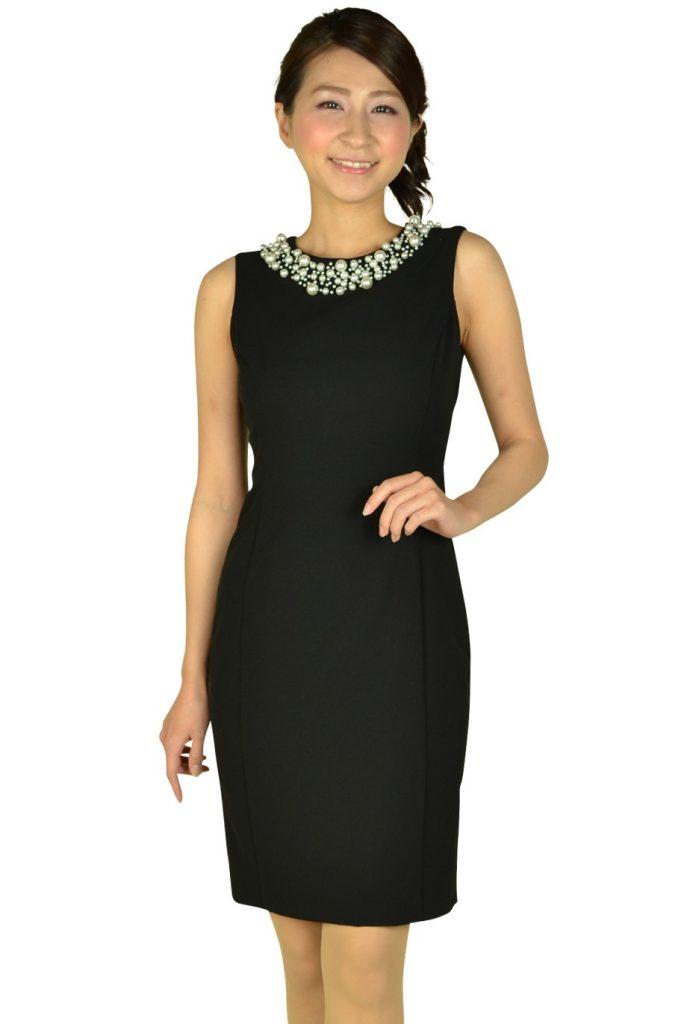 カルバンクライン (Calvin Klein) ビジュタイトブラックドレス