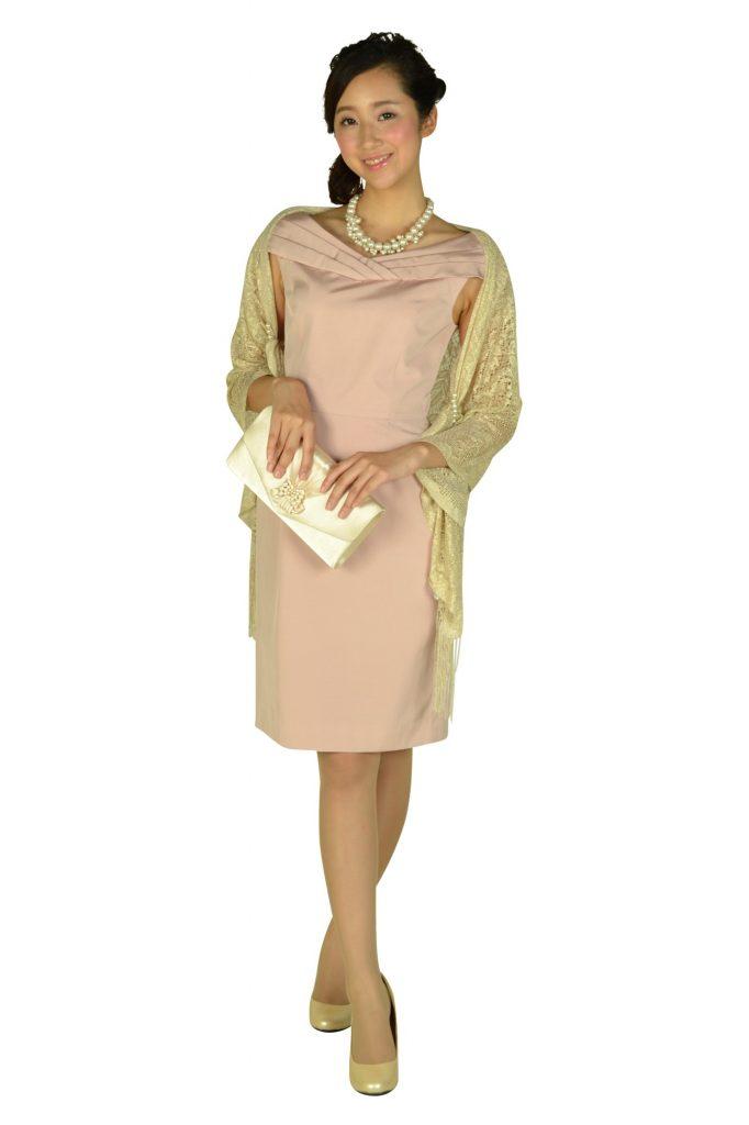 ジャスグリッティー (JUSGLITTY) オフショルダーピンクドレス