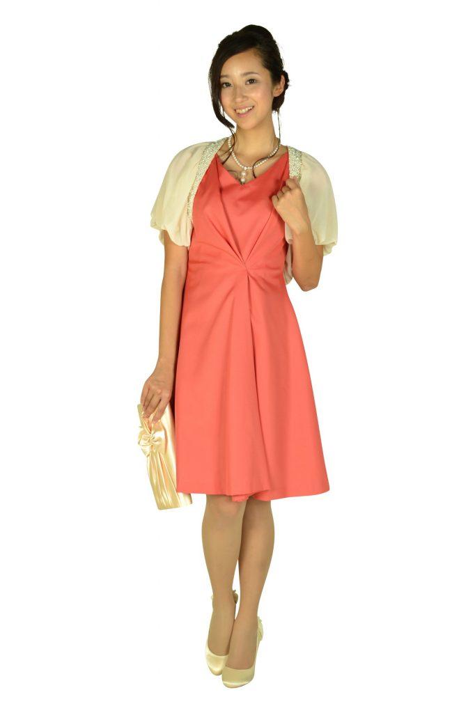 ラ トータリテ (La TOTALITE) エレガントタックオレンジピンクドレス