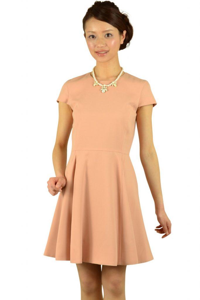 ノーリーズ (NOLLEY'S) 上品ベージュオレンジドレス