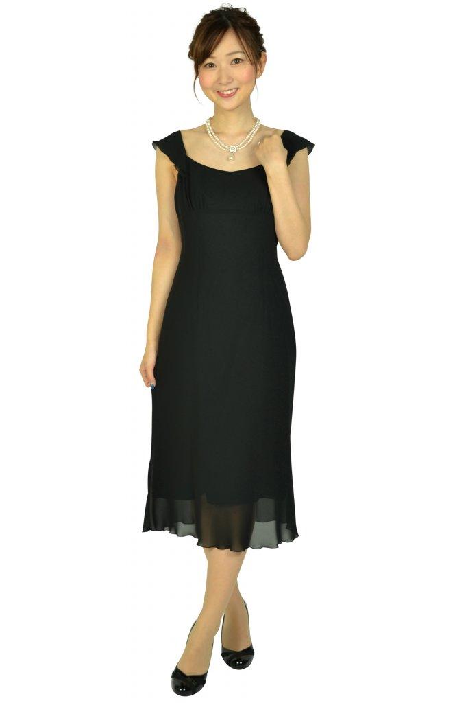 ミッシェルクライン (MICHEL KLEIN) シンプルブラックドレス