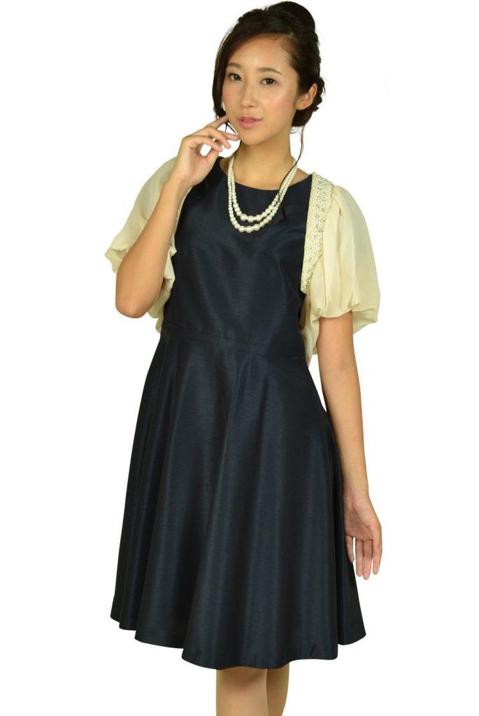 ニジュウサンク(23区) 袖付きシンプルネイビードレスセット