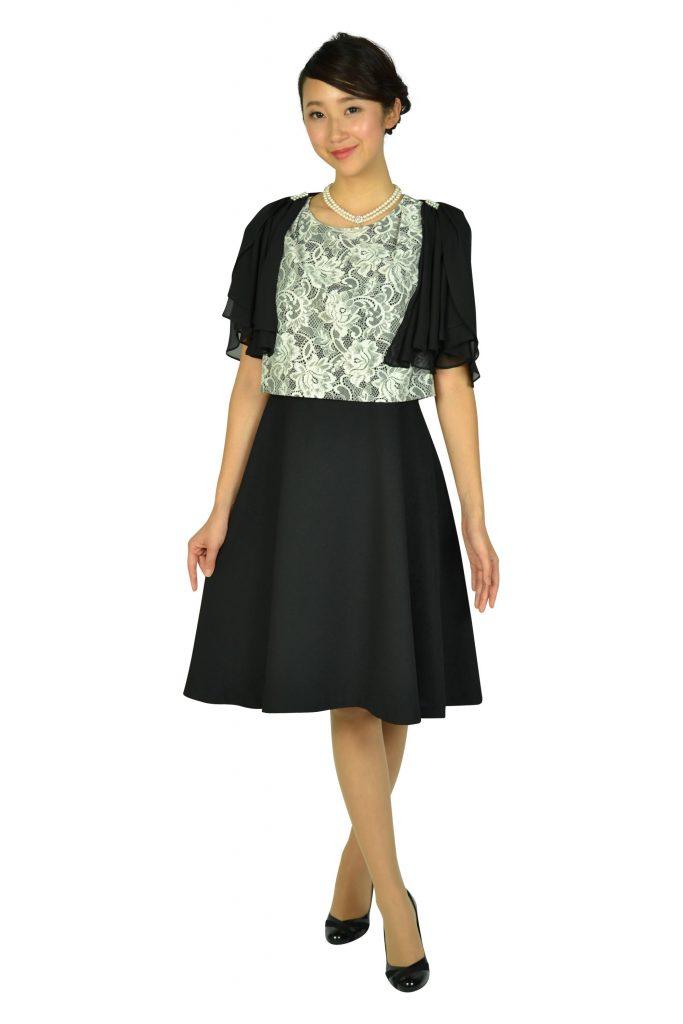 ドレス デコ(DRESS DECO) エレガントブラック×ホワイトレースドレスセット