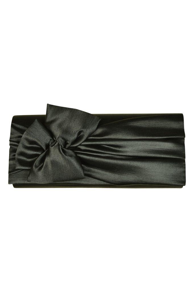 アンタイトル (UNTITLED) リボンモチーフブラッククラッチバッグ