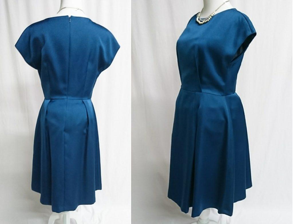ドレスのシルエットを崩す事なく綺麗に着れています