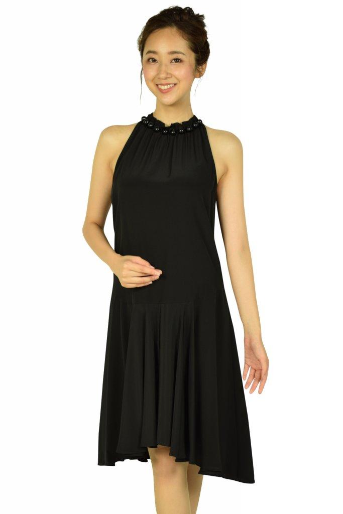 エンポリオ アルマーニ (EMPORIO ARMANI) ホルターネックブラックドレス