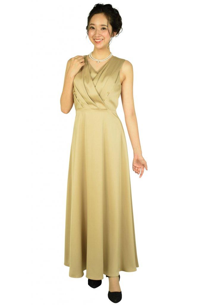 エルモソ リュクス (Hermoso luxe) カシュクールベージュロングドレス