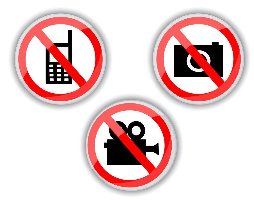 写真撮影&ビデオ撮影は基本厳禁