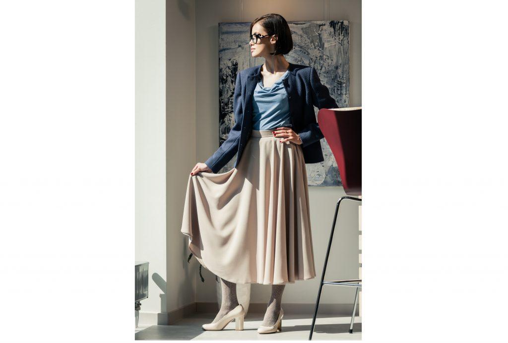 レディーに美しく×コーディネートのし易さなら ツーピース風ドレス