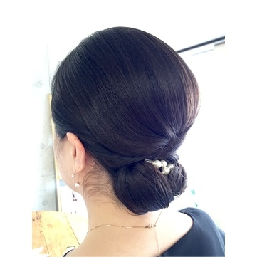親族の髪型、40代女性におすすめのヘアセット