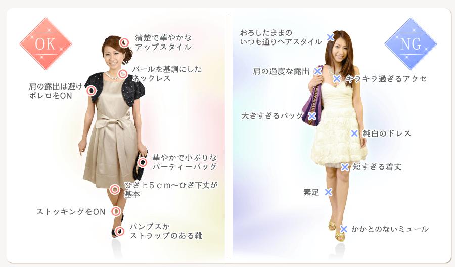 37be0d944a25c 結婚式の服装 女性ゲスト編(ドレス ワンピース) 画像解説マナー ...