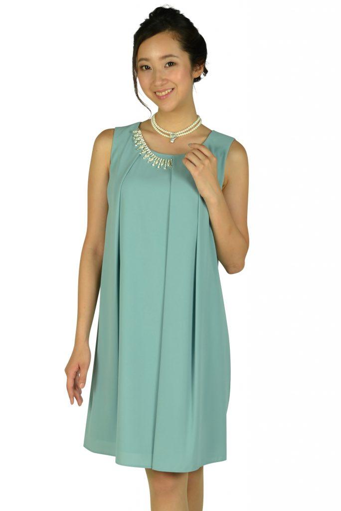 エクリュフィル (ecruefil) パステルミントタックゆったりドレス