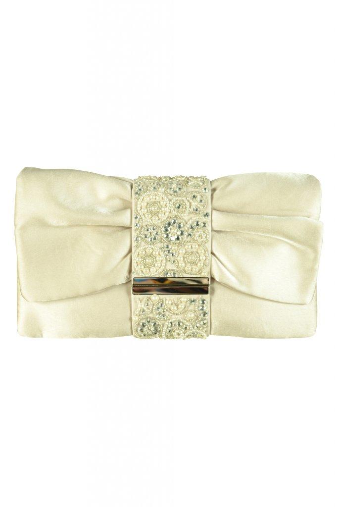 エルモソ リュクス (Hermoso luxe) デザインビジュグレージュクラッチバッグ