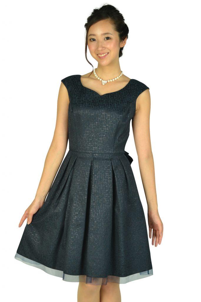 cba139be55452 アプワイザー・リッシェ (Apuweiser-riche) ハートカットネイビードレス