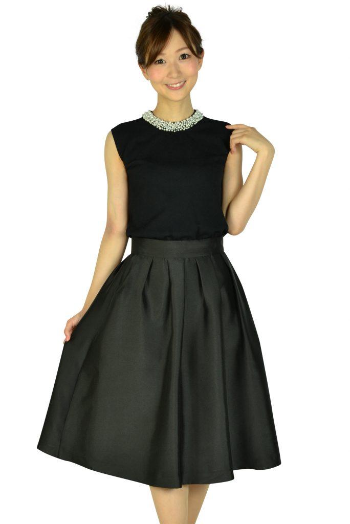 アティラントーレ (Attirantore) サマーニットトップスブラックドレス