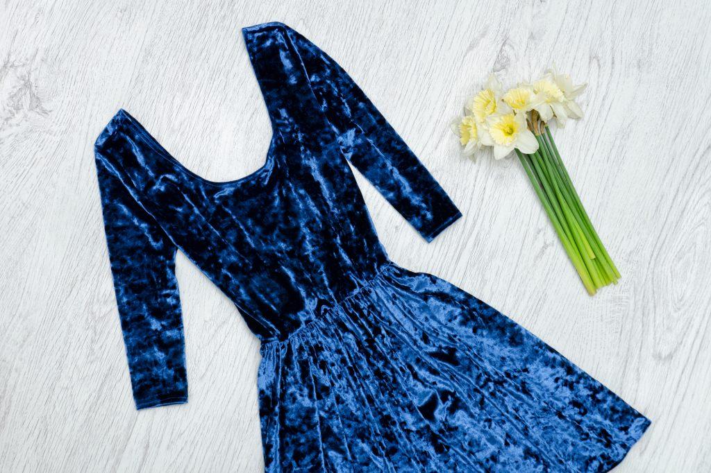 青のドレスにあわせたい ボレロやショール