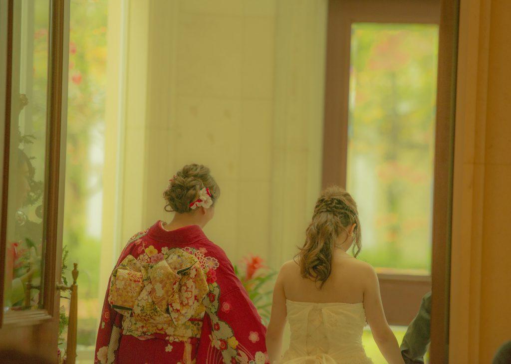 姉妹の結婚式