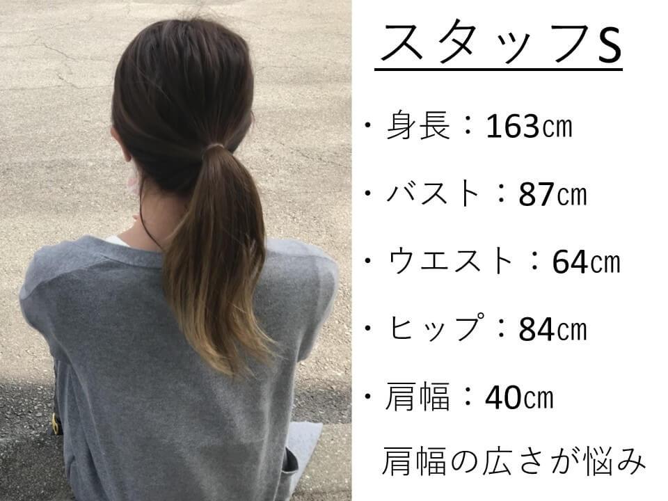 スタッフSのサイズ