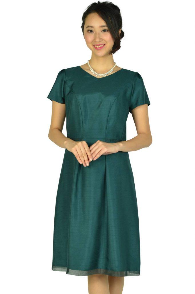 リフレクト(Reflect) Vネックシャンタングリーンドレス