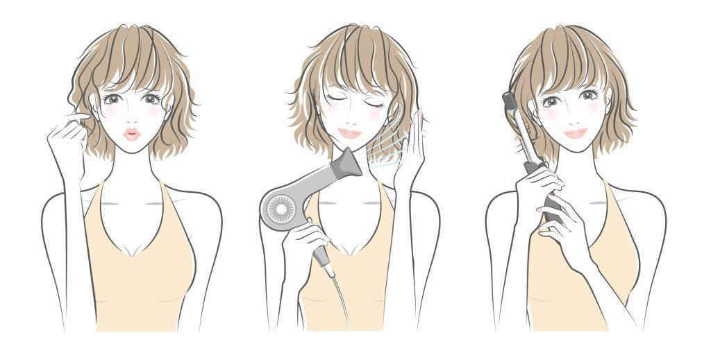 結婚式のショートヘアの髪型