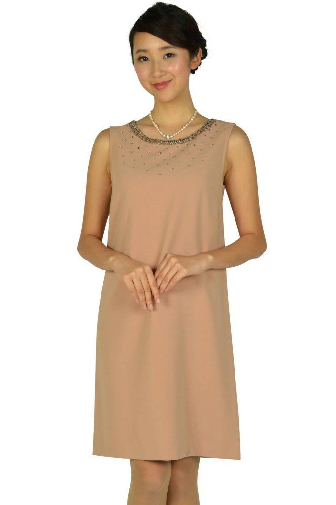 アナイ(ANAYI) 上質ピンクベージュドレス
