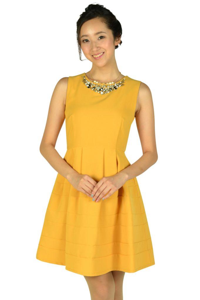 アティラントーレ (Attirantore) 豪華ビジュマスタードドレス