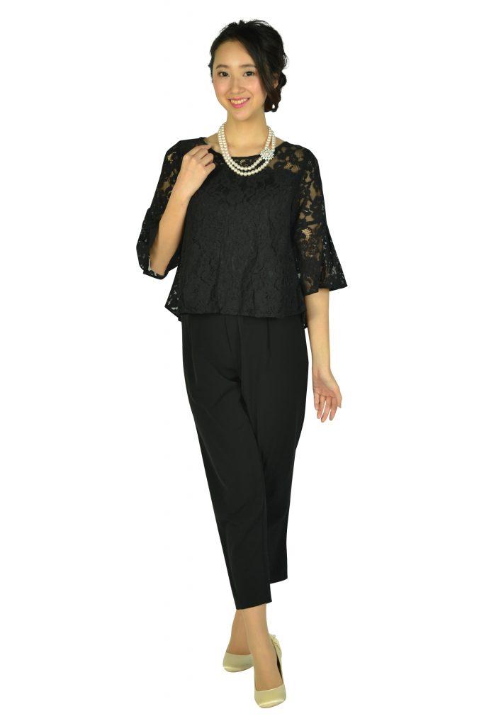 ミベル ミューズ (mebelle muse) レースセパレートブラックパンツドレス