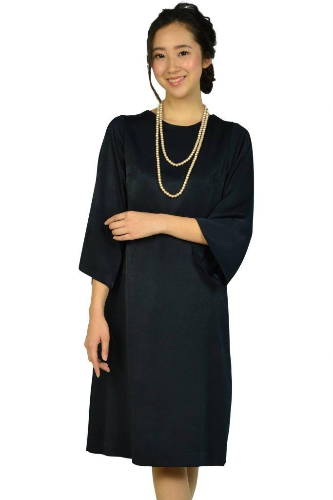 ビューティアンドユース ユナイテッドアローズ(BEAUTY&YOUTH UNITED ARROWS) バックリボンシンプルネイビードレス