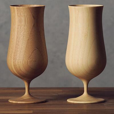 竹製 ビアグラス