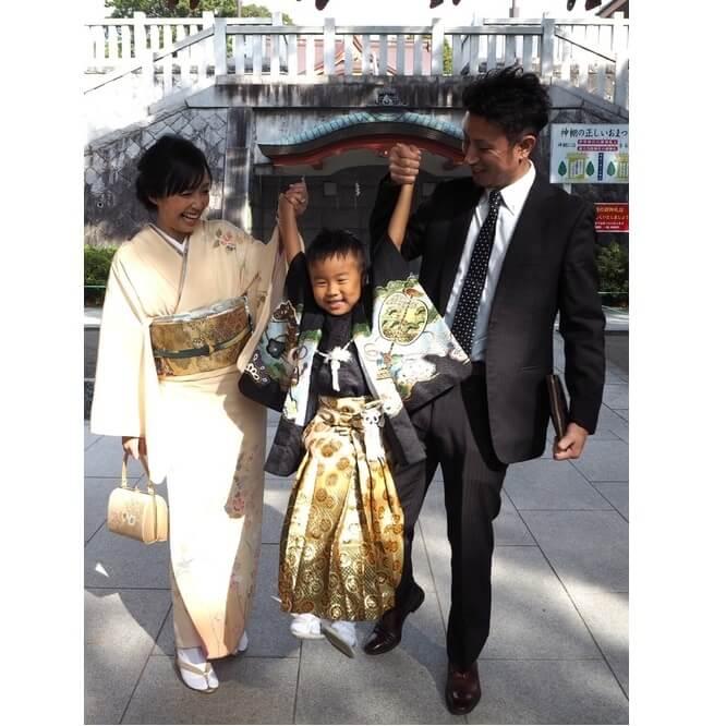 家族そろって着物を着用