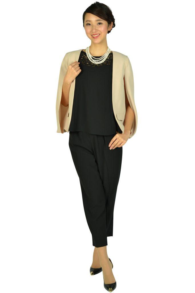 リプリート (REPLETE) フレア袖ブラックパンツドレスセット