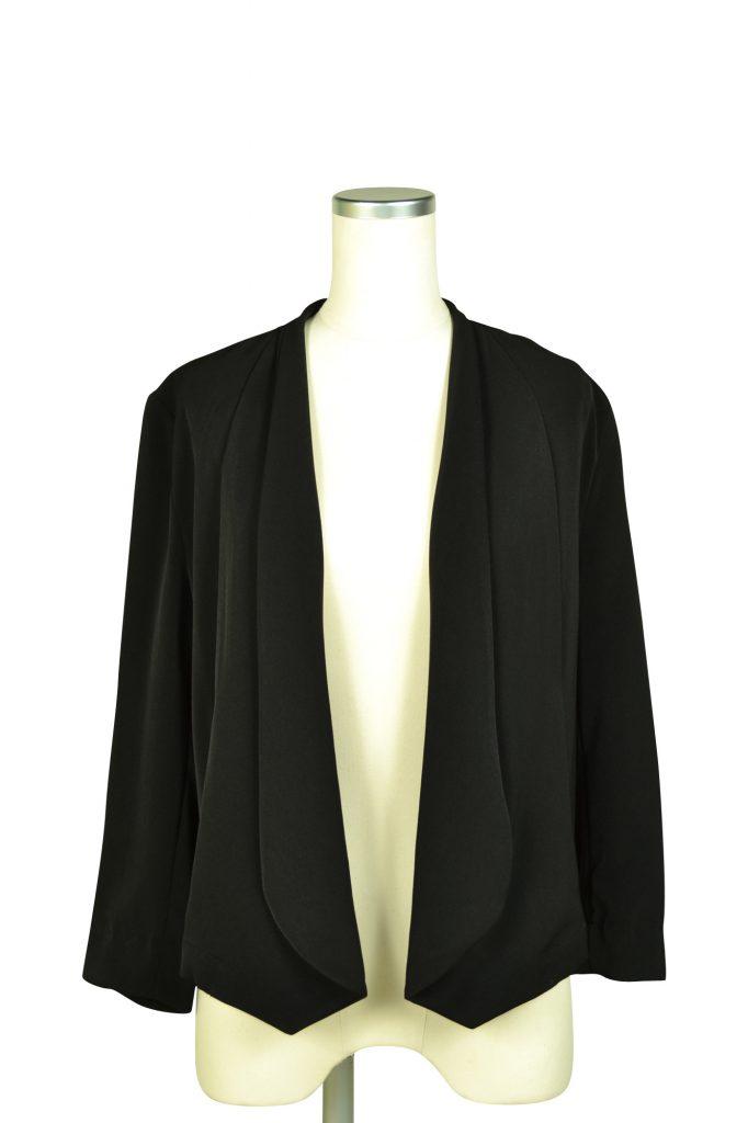 エルモソ(Hermoso) スタイリッシュ8分袖ブラックジャケット