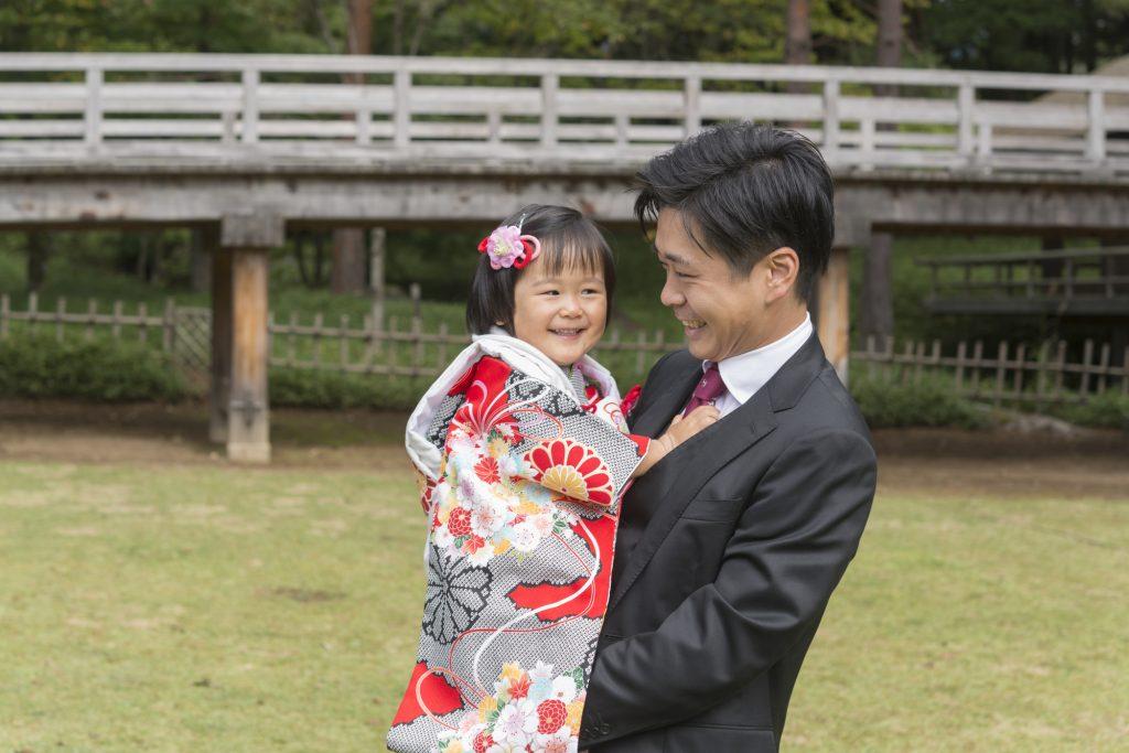 七五三の家族写真での パパの服装
