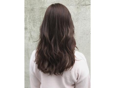 ひし形を意識した髪型