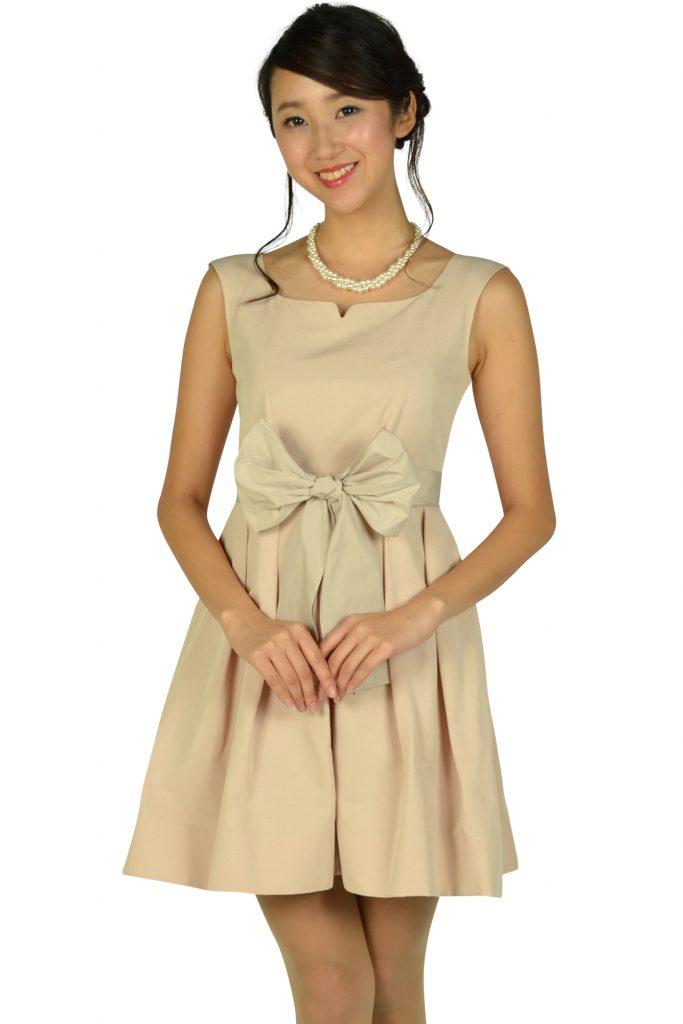 ジルスチュアート (JILLSTUART) ハートシェイプドネックピンクドレス