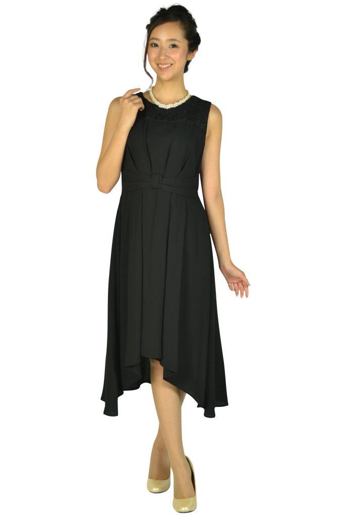 エルモソ (Hermoso) イレギュラーヘムブラックドレス