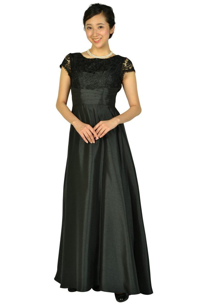 リュクス グレース (LUXE GRACE) パニエ付きエレガントブラックロングドレス