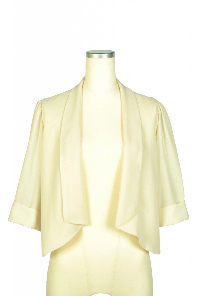 ルチェア (Luceat) 襟付き5分袖アイボリーボレロ