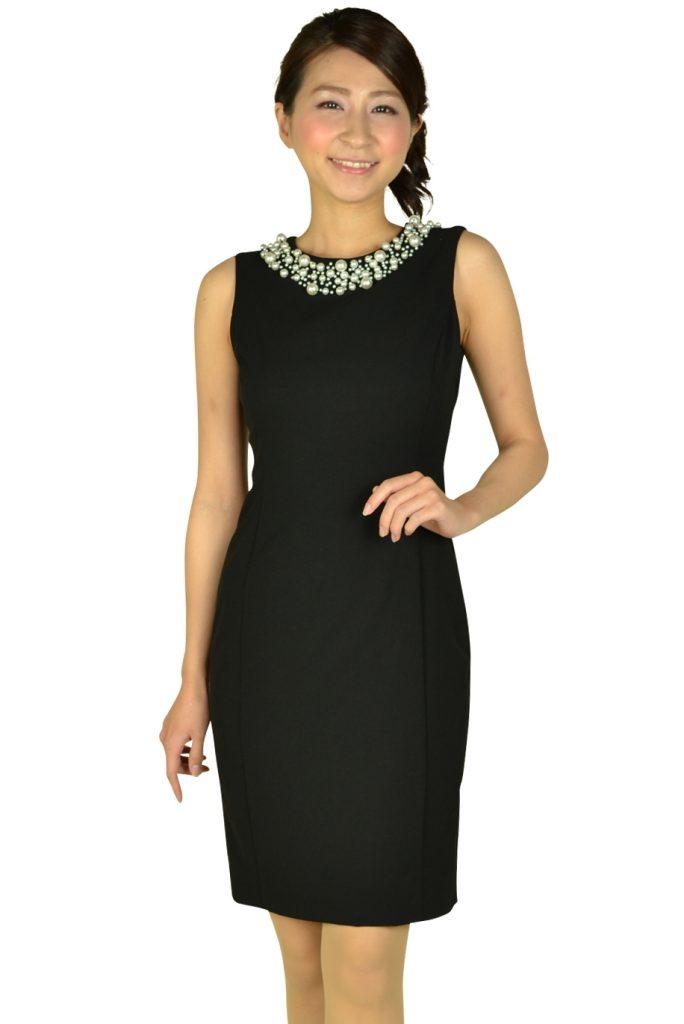カルバンクライン(Calvin Klein) ビジュタイトブラックドレス
