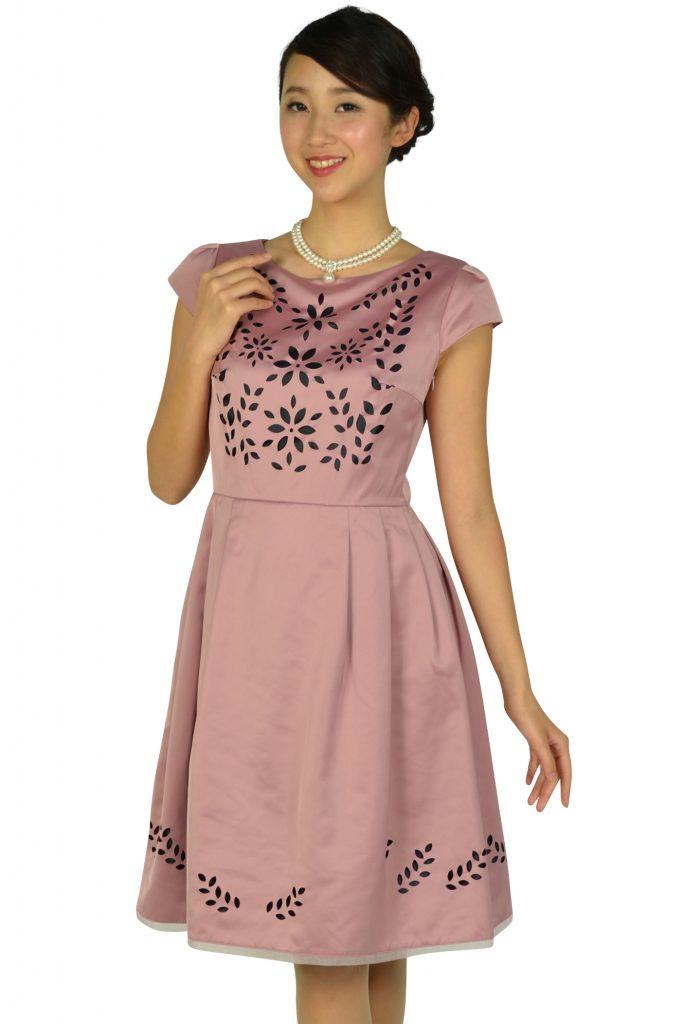 トッカ(TOCCA) フラワーカット品ありピンクドレス