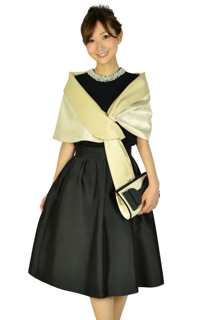アティラントーレ(Attirantore) サマーニットトップスブラックドレス