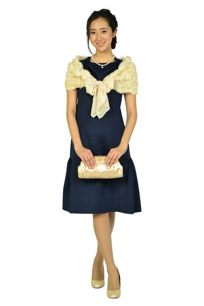 ドーリードール(Dorry Doll) 立体フラワーモチーフアイボリーショール