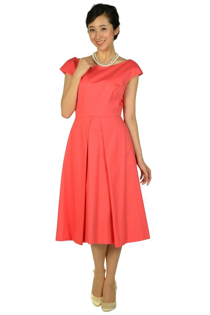 ミリー(Milly) バックワイドデザインオレンジピンクドレス